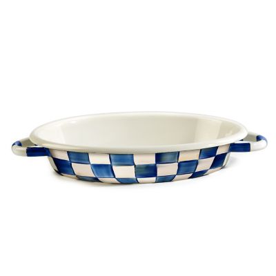 Image for Royal Check Enamel Oval Gratin - Medium