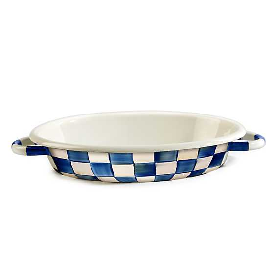 Royal Check Oval Gratin - Medium