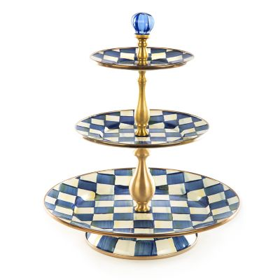 Image for Royal Check Enamel Three Tier Sweet Stand