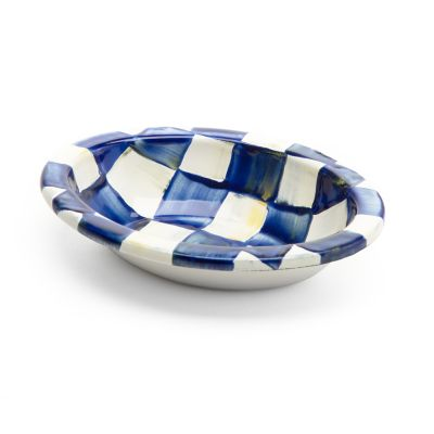 Royal Check Enamel Soap Dish