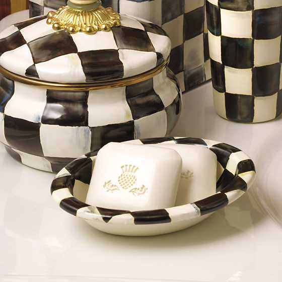Courtly Check Enamel Soap Dish image two