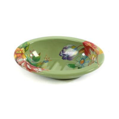 Flower Market Soap Dish - Green