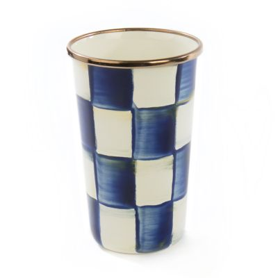 Royal Check Enamel Tumbler - 10 Ounce