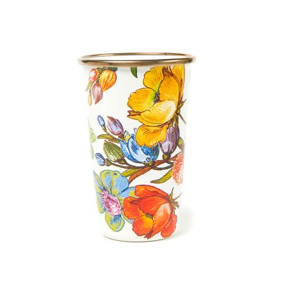 Flower Market 10 oz. Tumbler - White