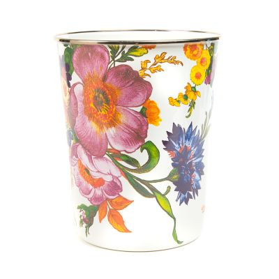 Flower Market Waste Bin - White