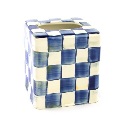 Royal Check Enamel Boutique Tissue Box Cover