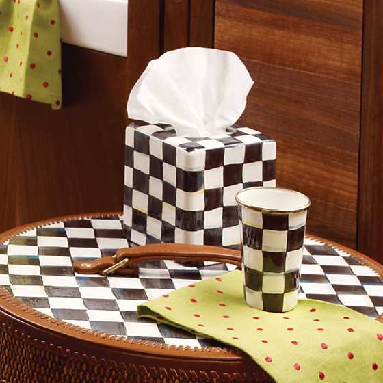 Courtly Check Enamel Boutique Tissue Box Cover image three