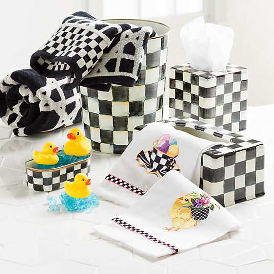 Courtly Check Enamel Boutique Tissue Box Cover image four