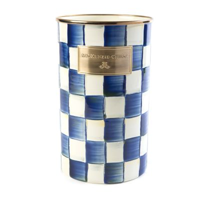 Royal Check Enamel Utensil Holder