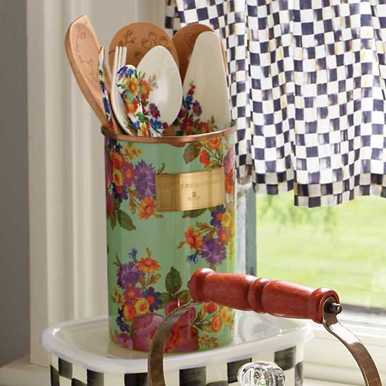 Flower Market Utensil Holder - Green image two