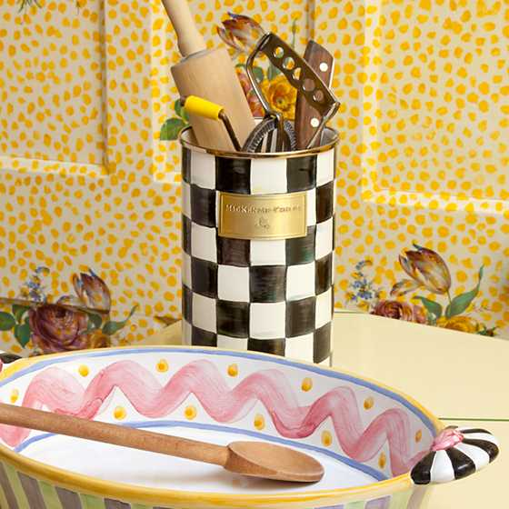 Courtly Check Enamel Utensil Holder image three