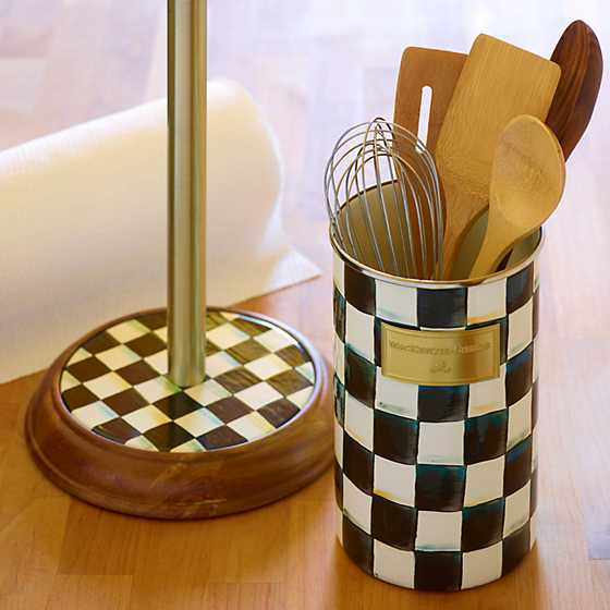 Courtly Check Enamel Utensil Holder image four