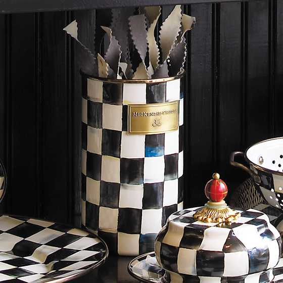 Courtly Check Enamel Utensil Holder image seven