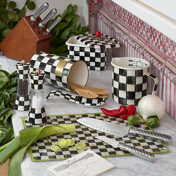 Courtly Check Enamel Utensil Holder image eight