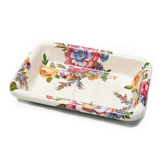 Flower Market Enamel Simply Soap Dish