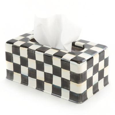 Image for Courtly Check Enamel Standard Tissue Box Cover