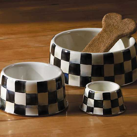 Courtly Check Enamel Pet Dish - Medium