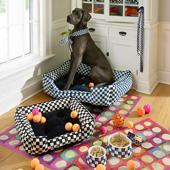 Royal Check Pet Dish - Large image two