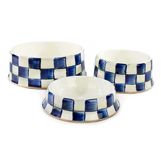 Royal Check Pet Dish - Large image three