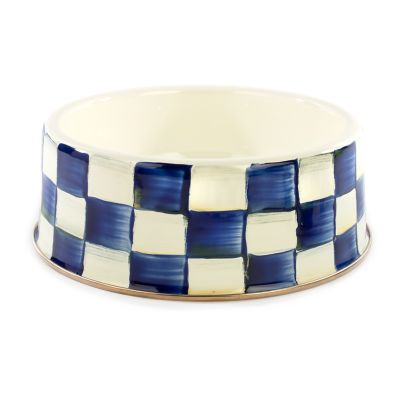 Royal Check Pet Dish - Large