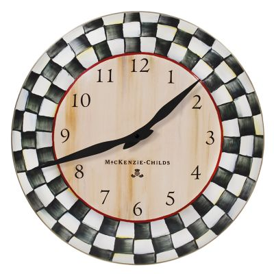 Image for Courtly Check Enamel Clock