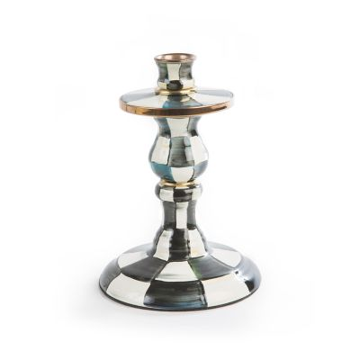 Image for Courtly Check Enamel Candlestick - Small