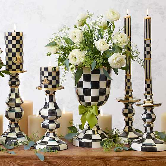 Courtly Check Enamel Candlestick - Medium image two