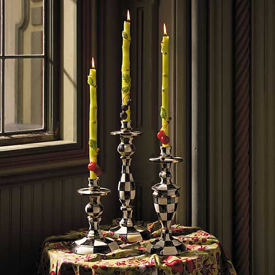 Courtly Check Enamel Candlestick - Medium image five