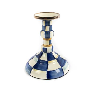 Royal Check Enamel Candlestick - Modest