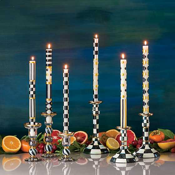 Courtly Check Enamel Candlestick - Modest image two