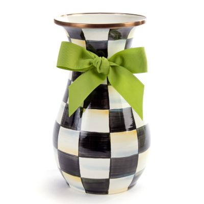 Image for Courtly Check Enamel Vase - Tall