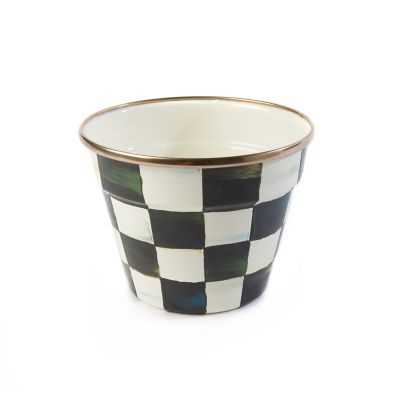Image for Courtly Check Enamel Garden Pot - Small