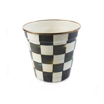 Courtly Check Enamel Garden Pot - Medium