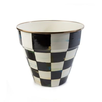 Courtly Check Enamel Garden Pot - Large