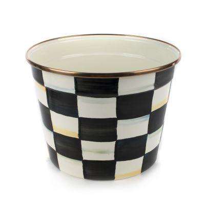 Image for Courtly Check Enamel Mum Pot