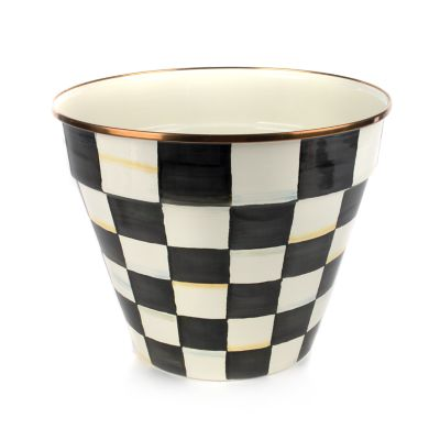 Courtly Check Enamel Garden Pot - Extra Large