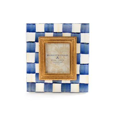 "Royal Check Enamel Frame - 2.5"" x 3"""