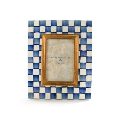 "Royal Check Enamel Frame - 4"" x 6"""