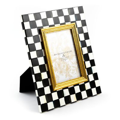 "Courtly Check Enamel Frame - 4"" x 6"""