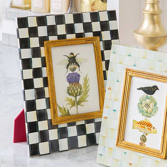 "Courtly Check Enamel Frame - 5"" x 7"""
