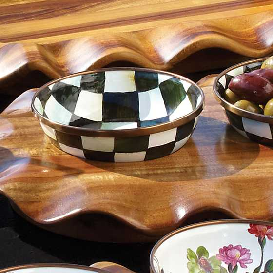 Courtly Check Enamel Relish Dish image three