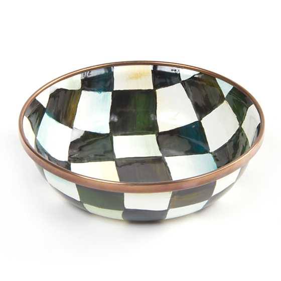 Courtly Check Enamel Relish Dish image one
