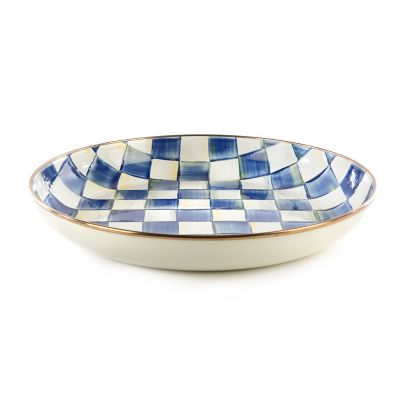 Royal Check Enamel Abundant Bowl