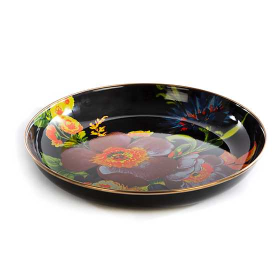 Flower Market Abundant Bowl - Black
