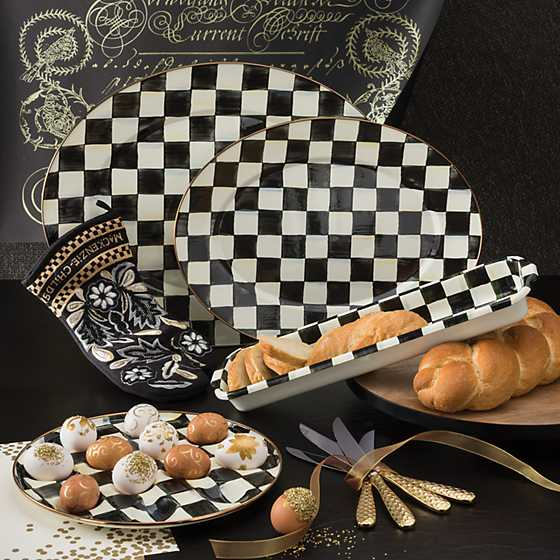Courtly Check Enamel Baguette Dish image three