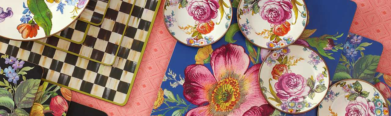Flower Market Canape Plates - Set of 4 Banner Image