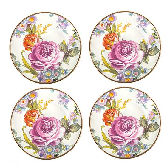 Flower Market Canape Plates - Set of 4