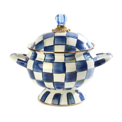 Royal Check Enamel Tureen