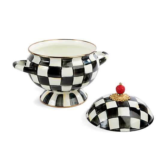 Courtly Check Enamel Tureen image three
