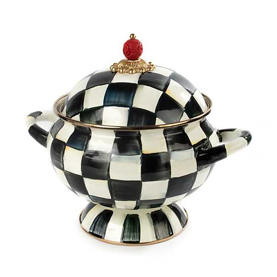 Courtly Check Enamel Tureen image one